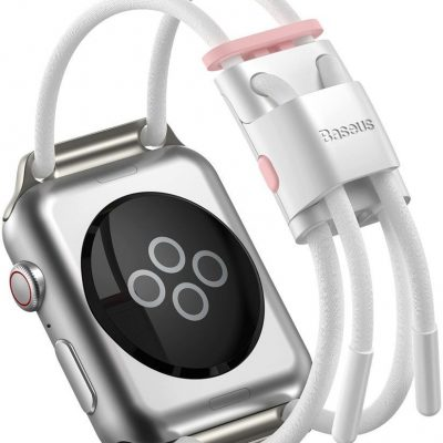 BASEUS pasek opaska bransoleta do Apple Watch 42 mm / 44 mm biały (LBAPWA4-B24) - Biały LBAPWA4-B24