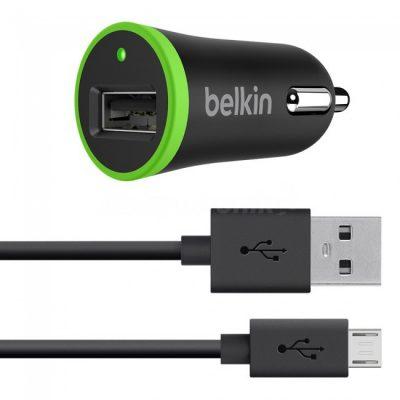 Belkin Car Charger 1x USB 2.4A + kabel micro USB F8M887bt04-BLK