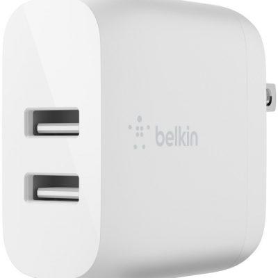 Belkin Podwójna ładowarka ścienna Boost Charge 12W x2 Biała
