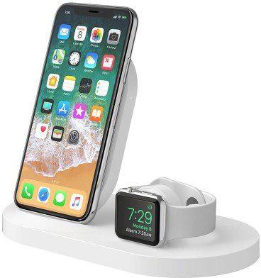 Belkin Stacja dokująca BoostUp Wireless dock iPhone+Watch+USB-A biała (F8J235vfWHT)