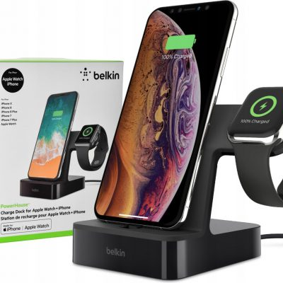Belkin Stacja Dokująca PowerHouse do iPhone + Watch Black (F8J237vfBLK)