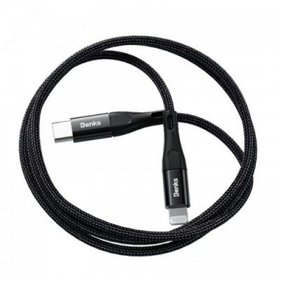 Benks Kabel USB-C do Lightning, czarny 6948005948719