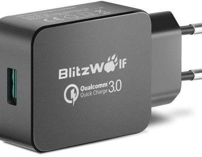 BlitzWolf BlitzWolf Ładowarka sieciowa BlitzWolf BW-S5 EU Black (USB 3.0; kolor czarny) 2_208195