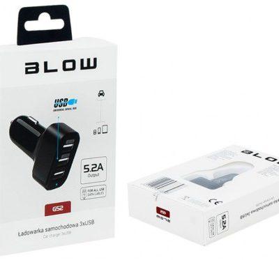 Blow Ładowarka 3x USB 5.2A Czarna 75-739 (75-739#)