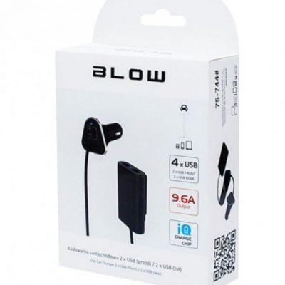 Blow Ładowarka adowarka samochodowa z gniazdem USB x 4 9,6A 75-744 75-744 (75-744#)