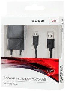 Blow Ładowarka z gniazdem USB 2,1A + kabel microUSB 75-862 (75-862#)