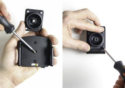 Brodit AB Uchwyt regulowany do Apple iPhone X w futerale lub obudowie o wymiarach: 70-83 mm (szer.), 2-10 mm (grubość) 711013