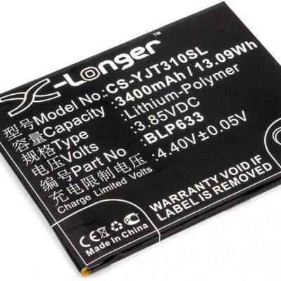 Cameron Sino OnePlus 3T BLP633 3400mAh 13.09Wh Li-Polymer 3.85V CS-YJT310SL