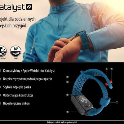 Catalyst Sport Band - Elastyczny pasek do Apple Watch 38 mm (Stealth Black) CAT38SBBLK