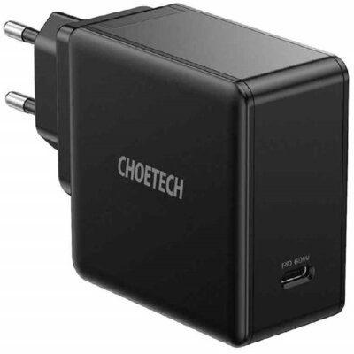 CHOETECH Ładowarka sieciowa CHOETECH Q4004 1 x USB-C Power Delivery 3.0 60W 3A Czarny