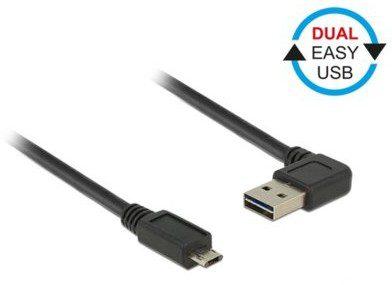 Delock EASY-kabel USB 2.0 A (gewink. RE/LI)-> eus-microB 1.0 m 85165