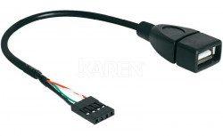 Delock Kabel USB AF/Pin Header USB 2.0 20cm black AKDEKKU00000035 (83291)