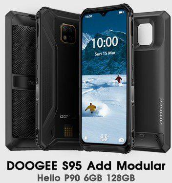 Doogee S95 128GB Dual Sim Czarny
