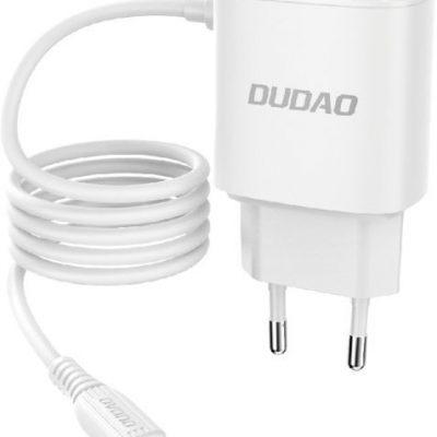 Dudao Dudao ładowarka sieciowa 2x USB z wbudowanym kablem Lightning biały (A2ProL white) - Biały Lightning (męski) USB Typ A (żeński) A2ProL white