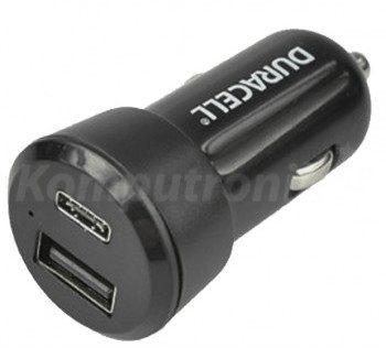 Duracell Car Charger 1x USB 1x USB-C 3A 5V (DR5026A)