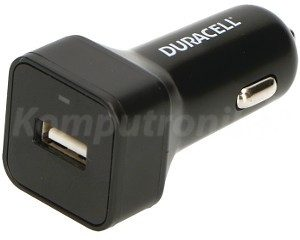 Duracell Car Charger 1x USB 2.4A 5V + kabel micro USB (DR5032A)