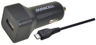 Duracell Ładowarka samochodowa 5V 1 x USB-A 2.4A + kabel USB microUSB 1m czarny DR5032A
