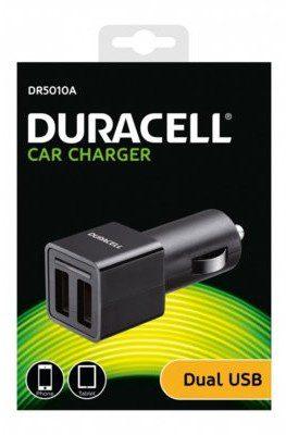 Duracell Ładowarka Samochodowa USB 2 x 2.4A DR5010A