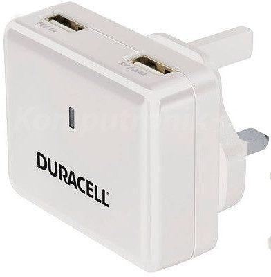 Duracell Ładowarka sieciowa 3,4 A travel kit biała (DR6001W)