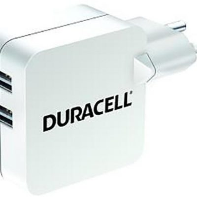 Duracell Podwójna ładowarka USB 2x 2.4A do telefonów i tabletów (DRACUSB4W-EU)