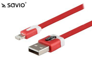 Elmak Kabel USB SAVIO CL-74 Kabel USB - Lightning 8pin, iOS8, iPhone 5/6,1 m, C