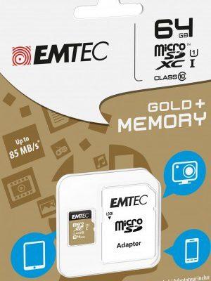 Emtec MicroSDXC  64GB Class 10 Gold+ (ECMSDM64GXC10GP)