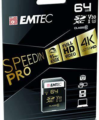 Emtec SDXC SPEEDIN 64GB Class10 95MB/s UHS-I U3 (ECMSD64GXC10SP)