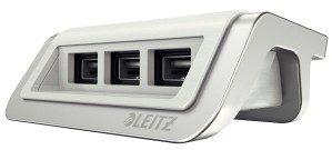Esselte Ładowarka USB Leitz Style, 3 porty, arktyczna biel ES1208-10