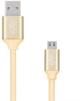 EXC Kabel USB 2.0 eXc STRONG USB A M micro USB B M 5-pin 0,9m złoty KKE0KKBU0510