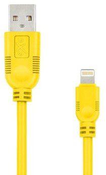 EXC Kabel USB 2.0 eXc WHIPPY USB A M Lightning 8-pin M 0,9m żółty KKE0KKBU05N0