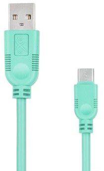 EXC Kabel USB 2.0 eXc WHIPPY USB A M micro USB B M 5-pin 0,9m miętowy KKE0KKBU05I0