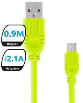 EXC Kabel USB 2.0 eXc WHIPPY USB A M micro USB B M 5-pin 0,9m zielony KKE0KKBU0040