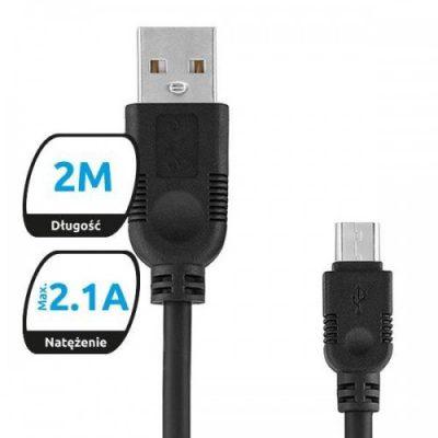 eXc Kabel USB-mUSB eXc WHIPPY, 2m, mix kolorów