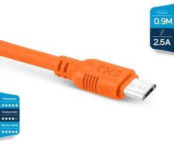eXc mobile Kabel USB micro USB WHIPPY 0.9m pomarańczowy 7270-uniw