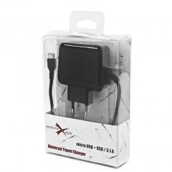 eXtreme Ładowarka sieciowa microUSB + USB 3.1A TC31MU