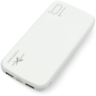 eXtreme Mobilna bateria Powerbank Style Ampere 10000mAh - microUSB, USB C, Lightning - biała ZAS-16307