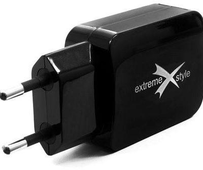 eXtreme style ładowarka sieciowa z dwoma gniazdami USB 3100mA TC31U2