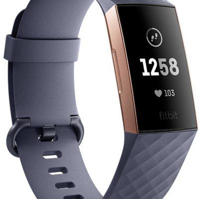 Fitbit Charge 3 Różowe Złoto Niebieska Szarość
