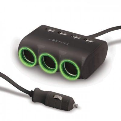 Forever Rozdzielacz gniazda + 4x USB (GSM016476)