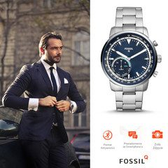 FOSSIL Q Goodwin Silver Hybrid Watch FTW1173