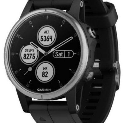 Garmin Fenix 5S Plus czarno-srebrny