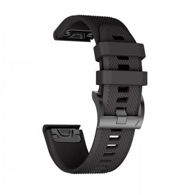 GARMIN Tech-Protect PASEK TECH-PROTECT SMOOTH FENIX 5 (22MM) BLACK BRANSOLETA CASE