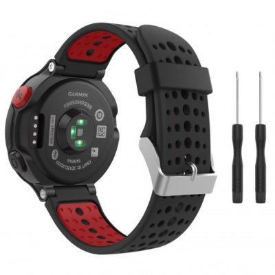 GARMIN Tech-Protect PASEK TECH-PROTECT SMOOTH FORERUNNER 220/230/235/630/735 BLACK/RED BRANSOLETA CASE