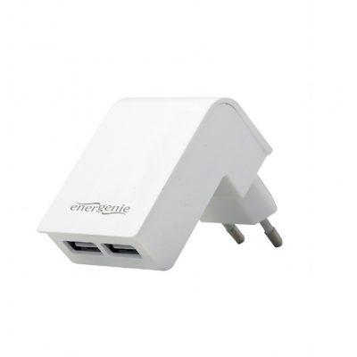 Gembird Ładowarka 2 portowa USB 2.1A/biała AZGEMUL00000014