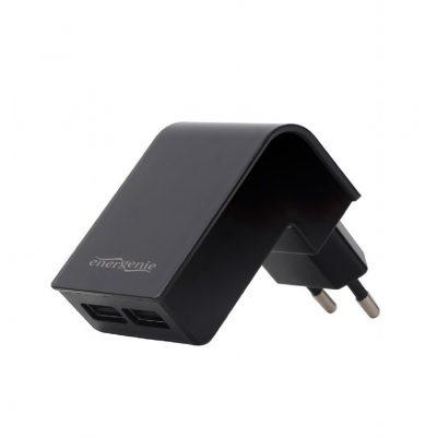 Gembird Ładowarka 2 portowa USB 2.1A/czarna AZGEMUL00000015