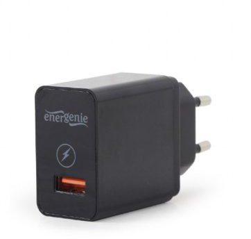 Gembird Ładowarka sieciowa USB Qiuck Charge 3.0 2.1A czarna (EG-UQC3-01)