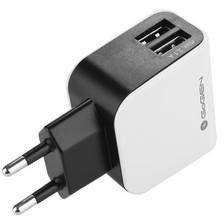 goGEN Ładowarka do sieci ACH 200, 2x USB (GOGACH200) Czarna/Biała