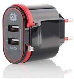 goGEN Ładowarka do sieci ACH202C 2xUSB 2,4A integrovaný Micro USB kabel ACH202C)