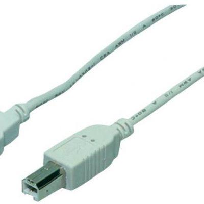 Goobay Kabel USB 2.0 [1x Złącze męskie USB 2.0 A 1x Złącze męskie USB 2.0 B] 1.80 m szary