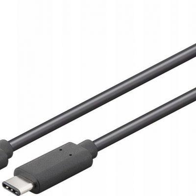 Goobay Kabel Usb-c 3.2 20 Gbit/s Czarny 1m